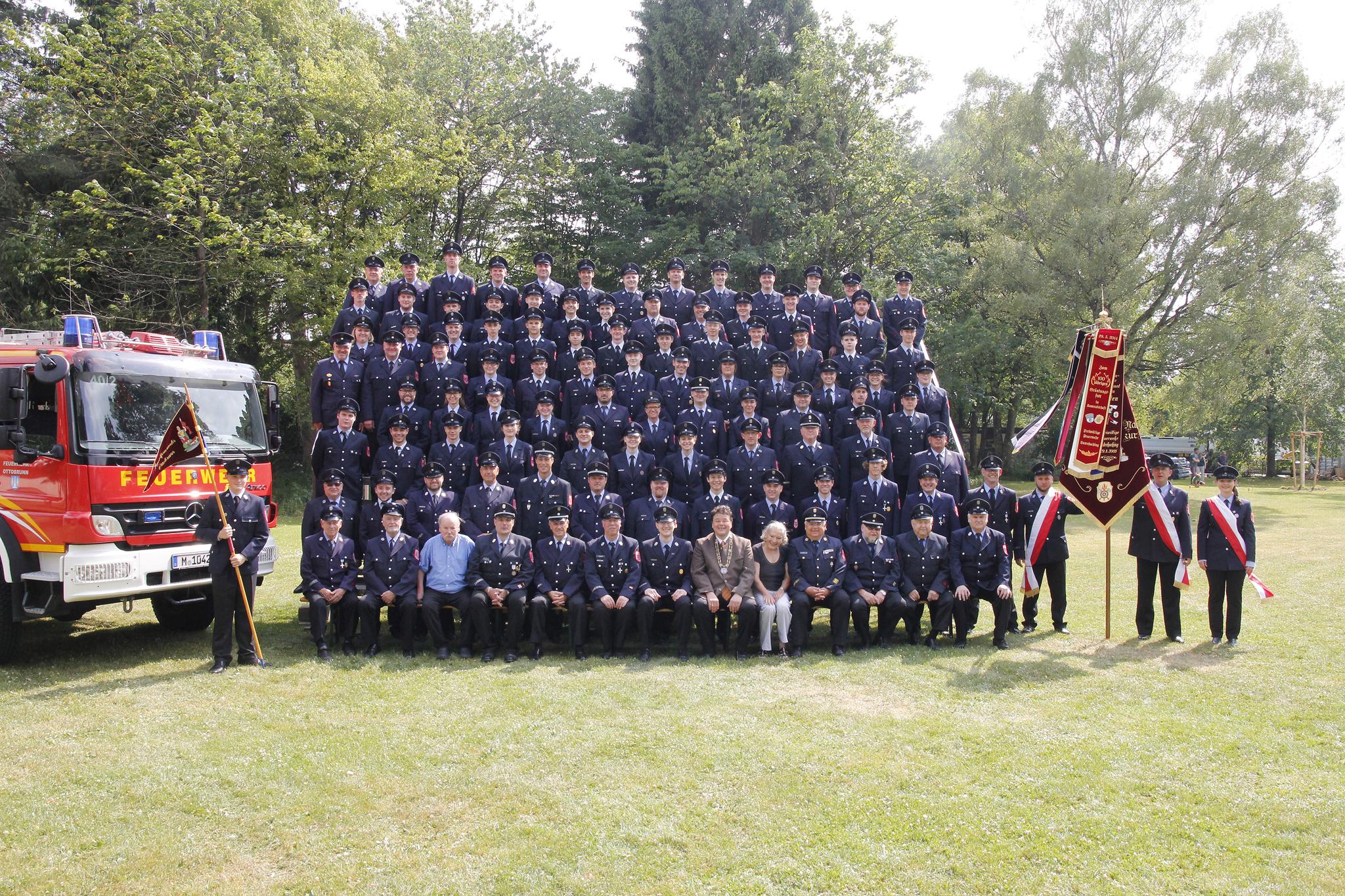 Mannschaftsfoto Feuerwehr Ottobrunn 2017